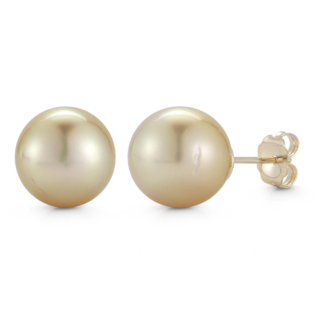 The New Classic Golden South Sea Pearl Earrings