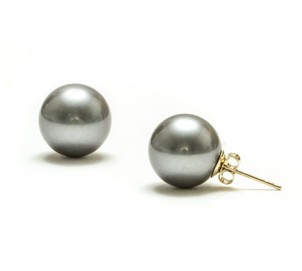 12MM Tahitian Pearl Earrings