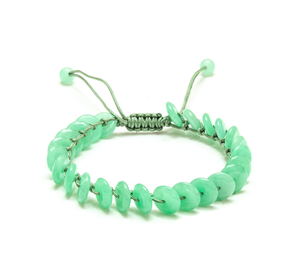 Green Jade Coin Adjustable Bracelet