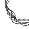 "23"" 8-9MM Tahitian Pearl & Spinel Multi Row Necklace"