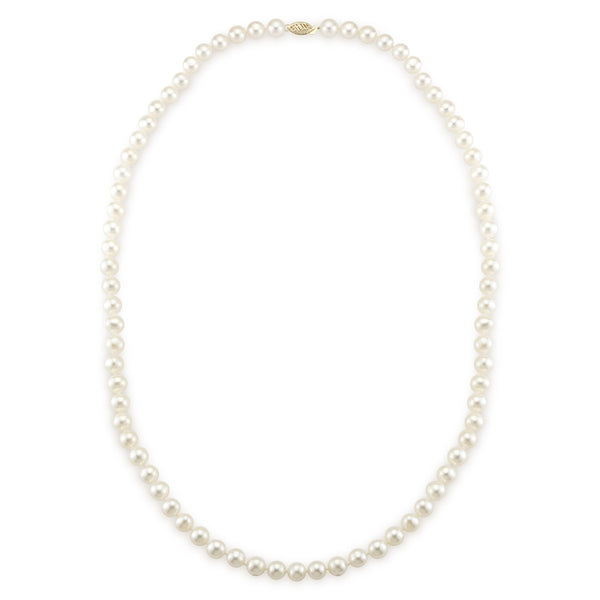 7-8MM Matinee Length Necklace