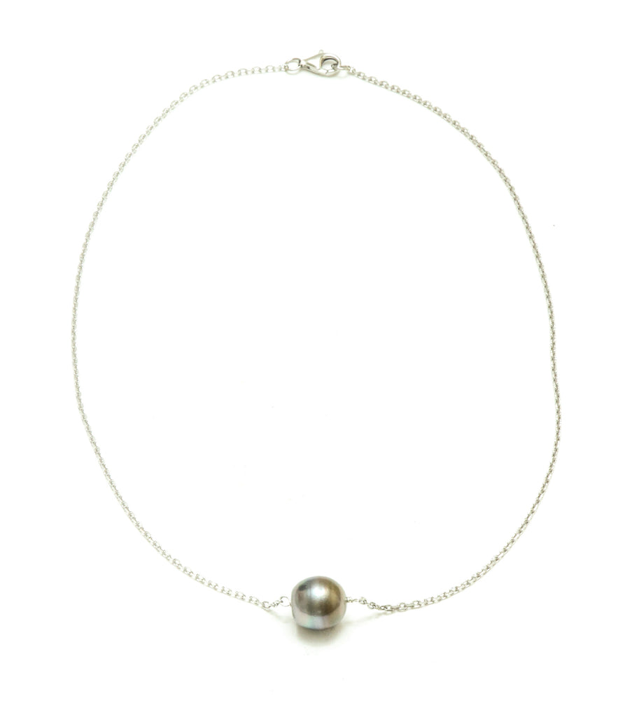 12MM Baroque Tahitian Pearl Floating Pearl Pendant (Esther's Neckalce)