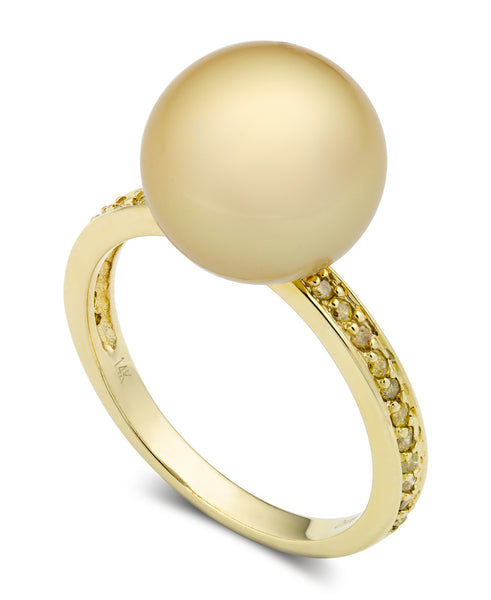 Golden South Sea Pearl Cocktail Ring