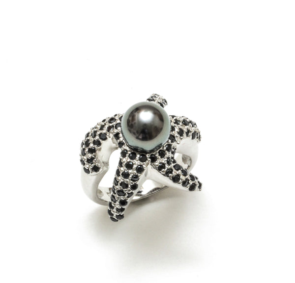 Tahitian Pearl Starfish Ring
