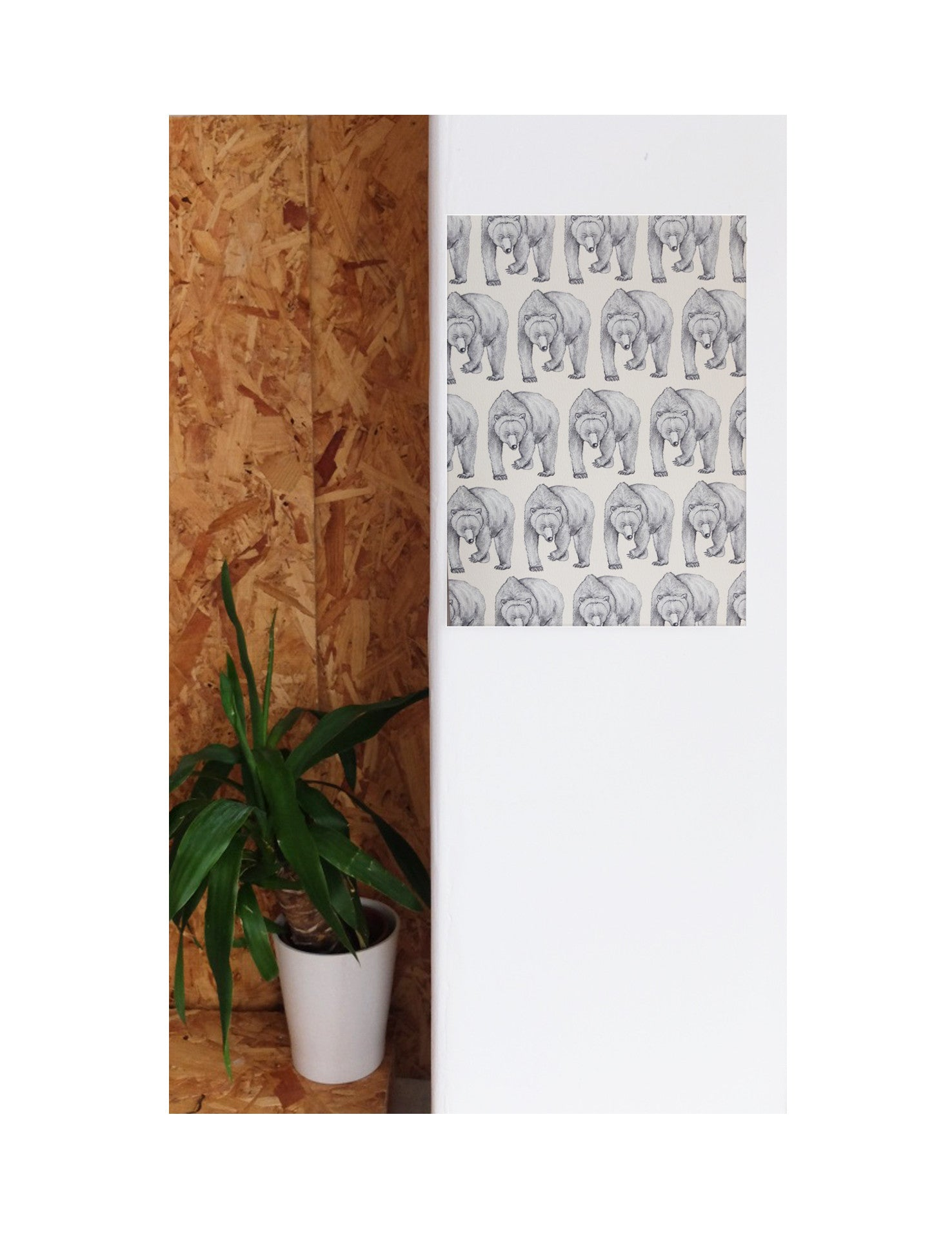 Bear | Illustrated Animal Wall Print - Merri | Illustration | Stationery + Gifts | Manchester
