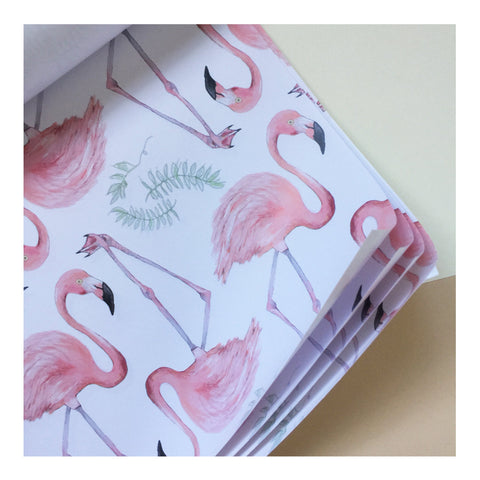 Botanical Flamingo | Gift Wrap | Illustrated Animals - Merri | Illustration | Stationery + Gifts | Manchester