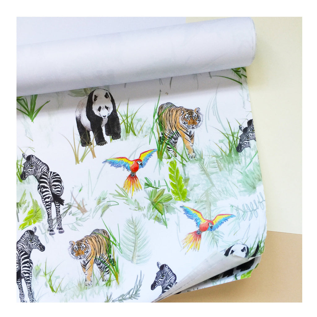 Botanical Jungle | Gift Wrap | Illustrated Animals