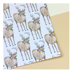 Christmas Deer | Gift Wrap | Illustrated Animals - Merri | Illustration | Stationery + Gifts | Manchester