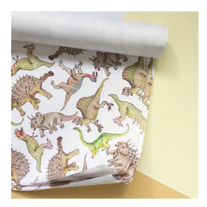 Dinosaur | Gift Wrap | Illustrated Animals - Merri | Illustration | Stationery + Gifts | Manchester