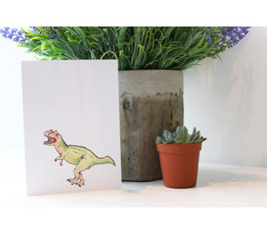 Dinosaur | Greeting Cards | Illustrated Animals - Merri | Illustration | Stationery + Gifts | Manchester