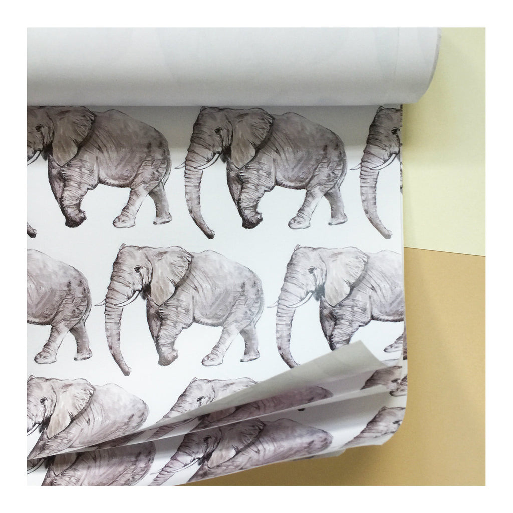 Elephant | Gift Wrap | Illustrated Animals