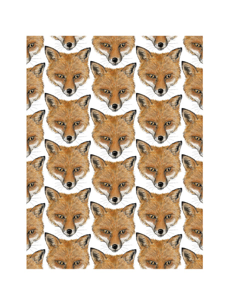 Fox | Illustrated Animal Wall Print - Merri | Illustration | Stationery + Gifts | Manchester