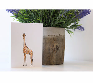 Giraffe | Greeting Cards | Illustrated Animals - Merri | Illustration | Stationery + Gifts | Manchester
