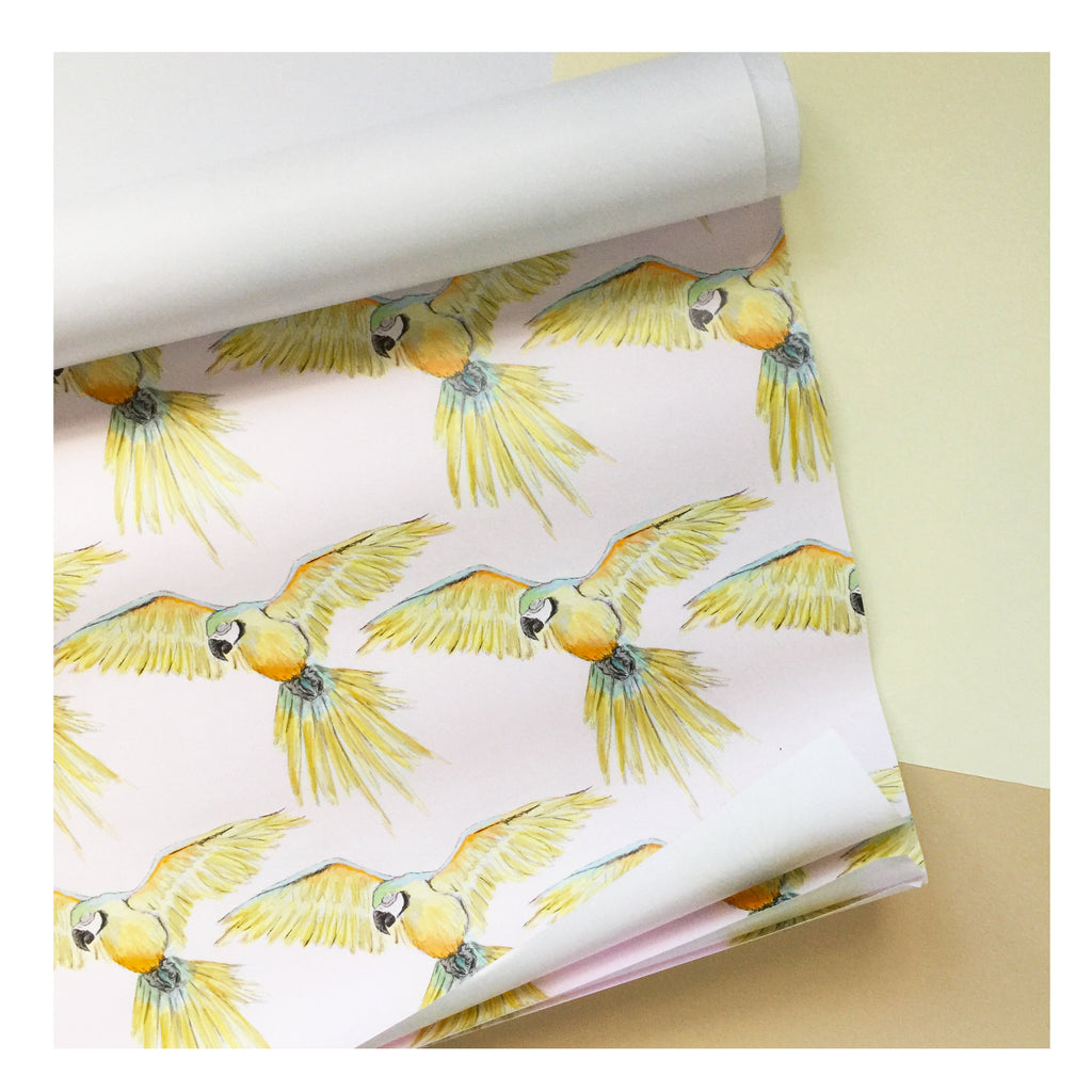 Parrot | Gift Wrap | Illustrated Animals
