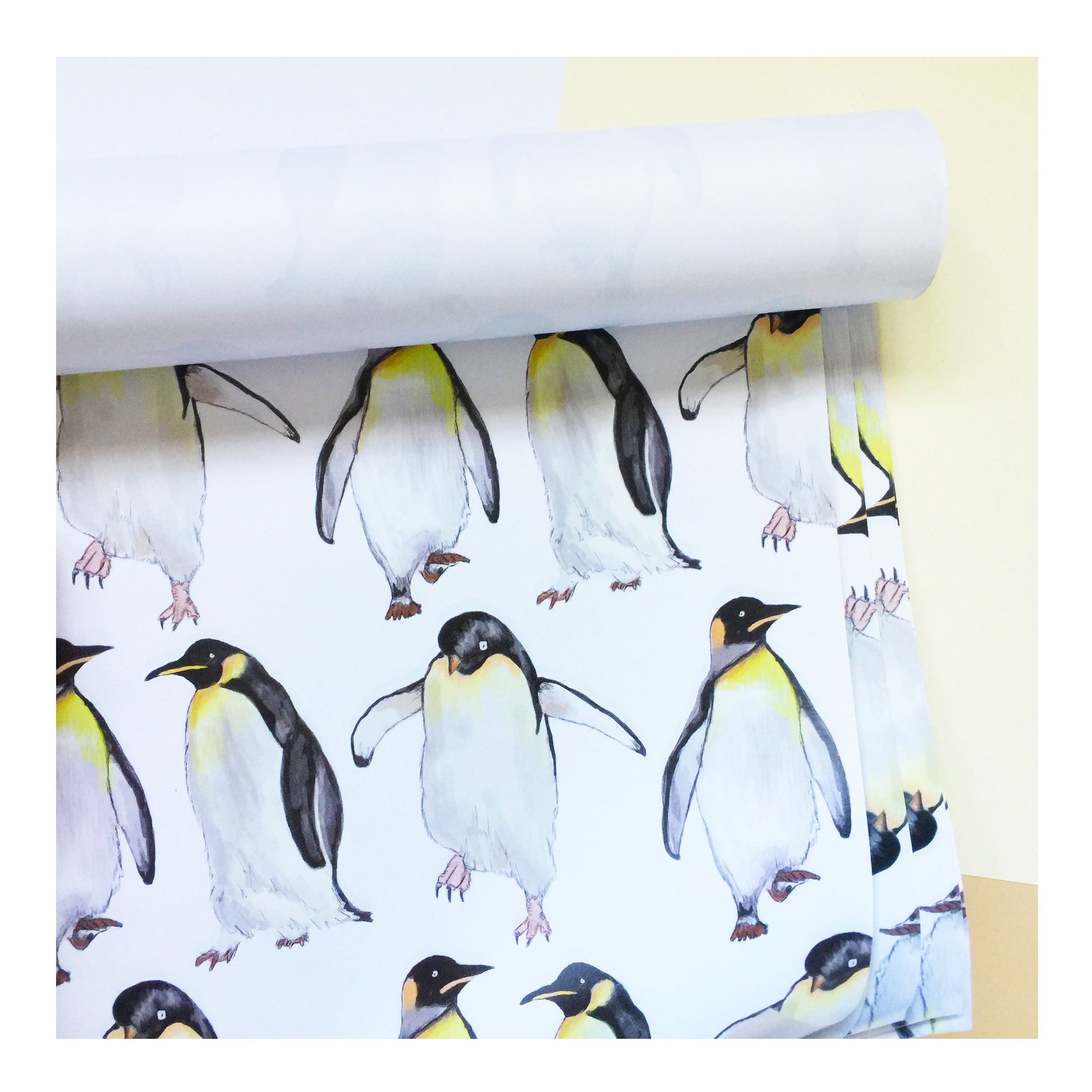 Penguin | Gift Wrap | Illustrated Animals - Merri | Illustration | Stationery + Gifts | Manchester