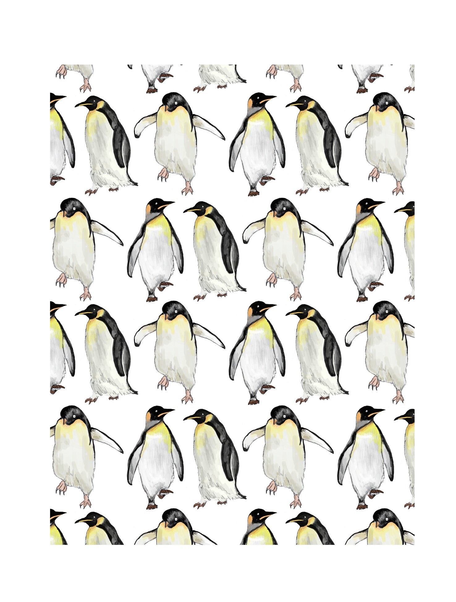 Penguin | Illustrated Animal Wall Print - Merri | Illustration | Stationery + Gifts | Manchester