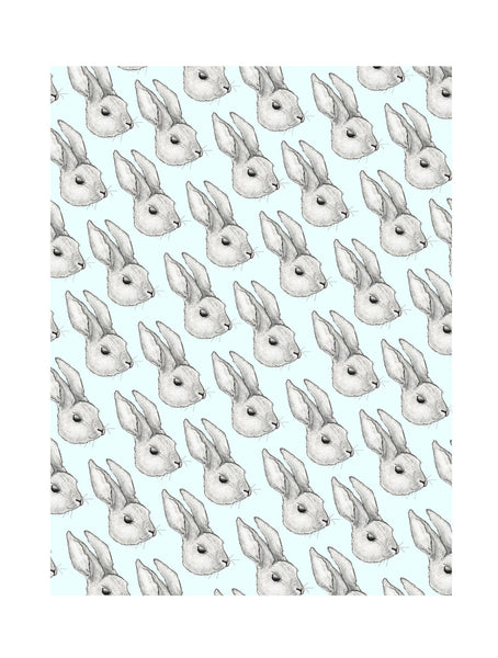 Rabbit | Illustrated Animal Wall Print - Merri | Illustration | Stationery + Gifts | Manchester