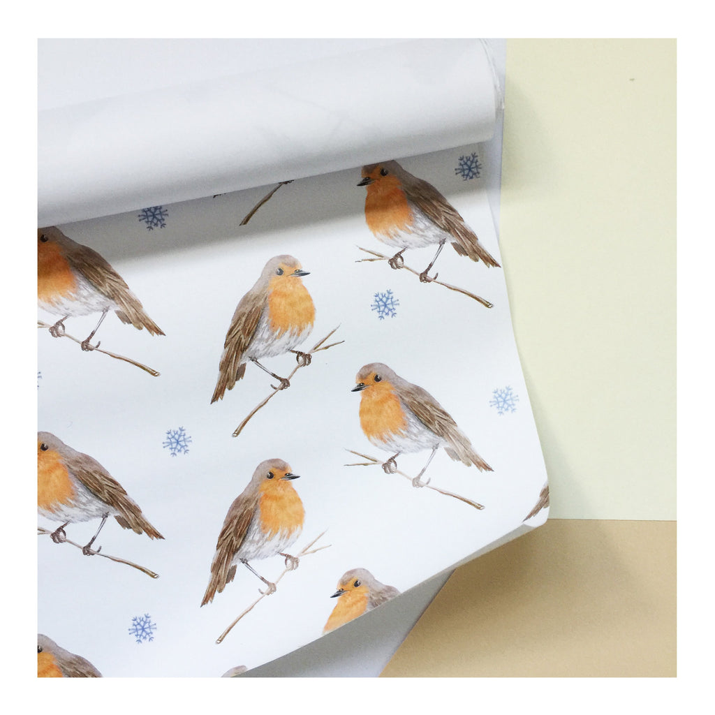 Christmas Robin | Gift Wrap | Illustrated Animals