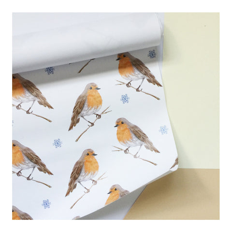Christmas Robin | Gift Wrap | Illustrated Animals - Merri | Illustration | Stationery + Gifts | Manchester