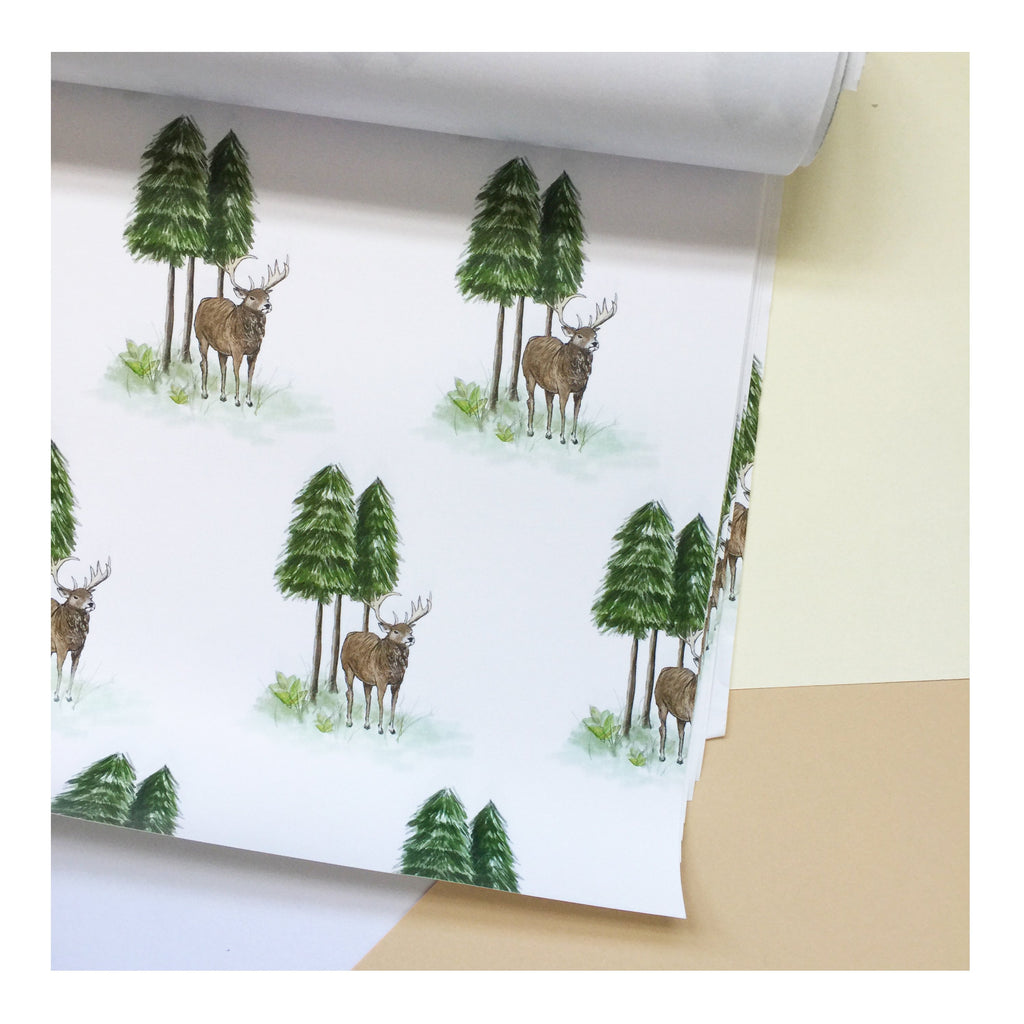 Forest Deer | Gift Wrap | Illustrated Animals