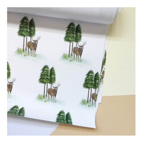 Forest Deer | Gift Wrap | Illustrated Animals - Merri | Illustration | Stationery + Gifts | Manchester
