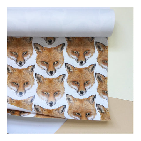 Fox | Gift Wrap | Illustrated Animals - Merri | Illustration | Stationery + Gifts | Manchester
