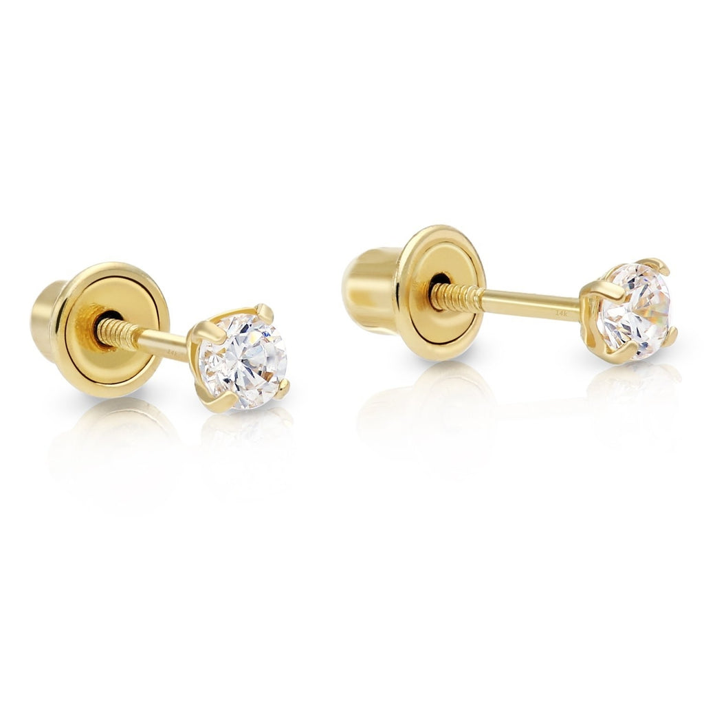 zirconia morganite and in rose simulated sterling silver plated stud earrings ct cubic gold jewelry