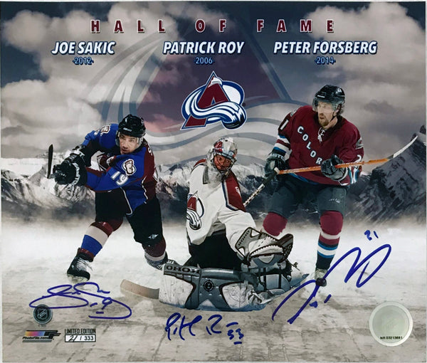 Colorado Avalanche- Roy/Sakic/Forsberg Signed 8x10 Photo