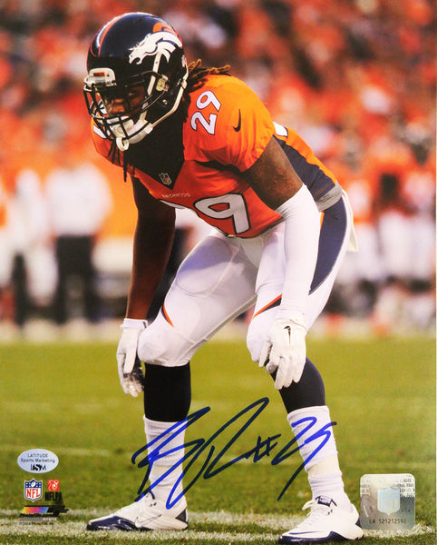 Bradley Roby Autographed 8x10 Photo Crouching