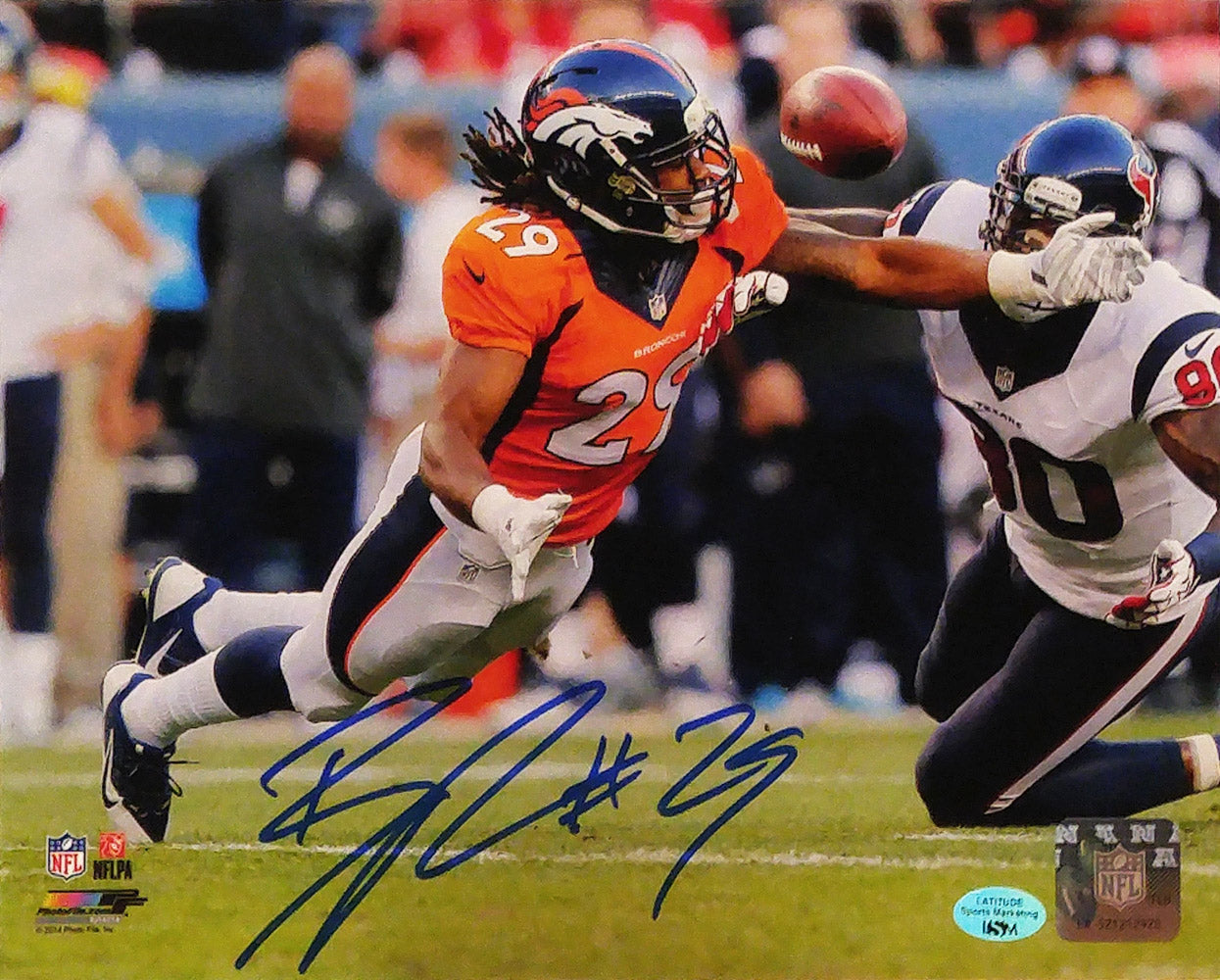*Bradley Roby Autographed 8x10 Photo Diving