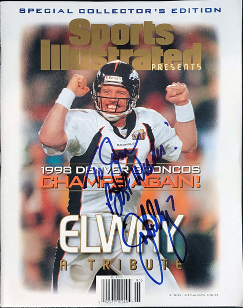 John Elway Signed Super Bowl 33 Sports Illustrated