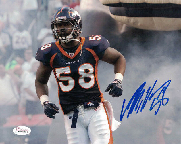 Von Miller Signed 8x10 Photo (Blue Jersey) - Latitude Sports Marketing