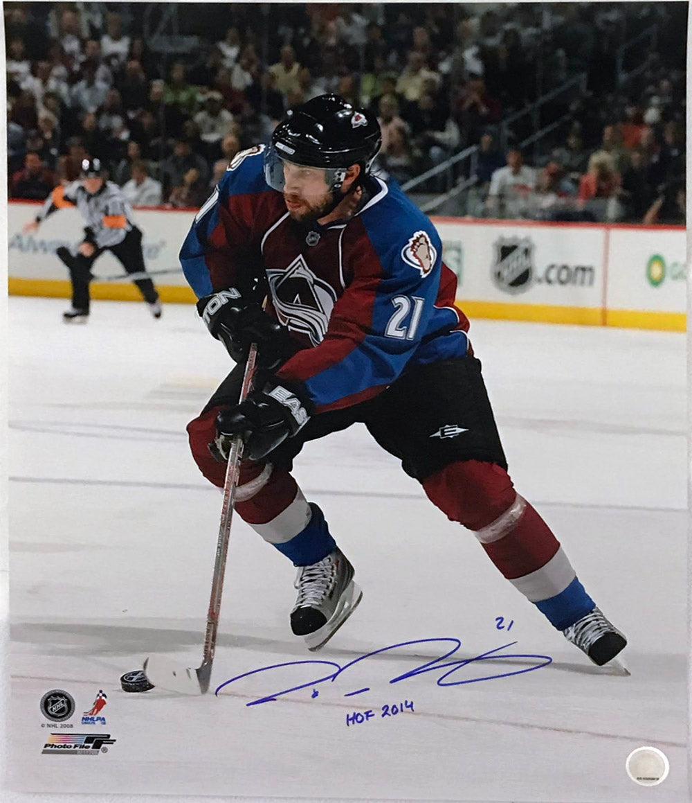 Peter Forsberg Signed and Inscribed 16x20