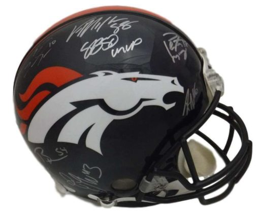 Team Signed 15 Signature Denver Broncos Helmet - Latitude Sports Marketing