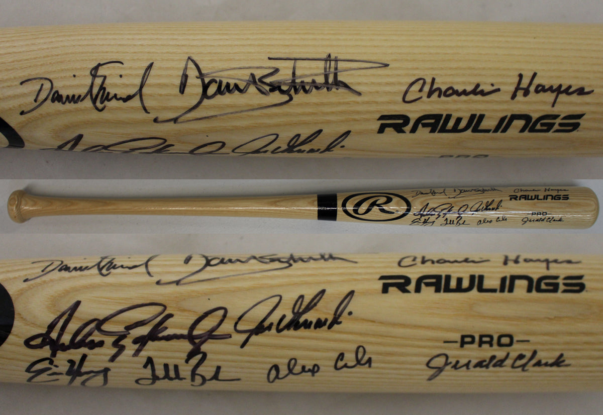 1993 Colorado Rockies Team Signed Rawlings Blonde Baseball Bat - Latitude Sports Marketing