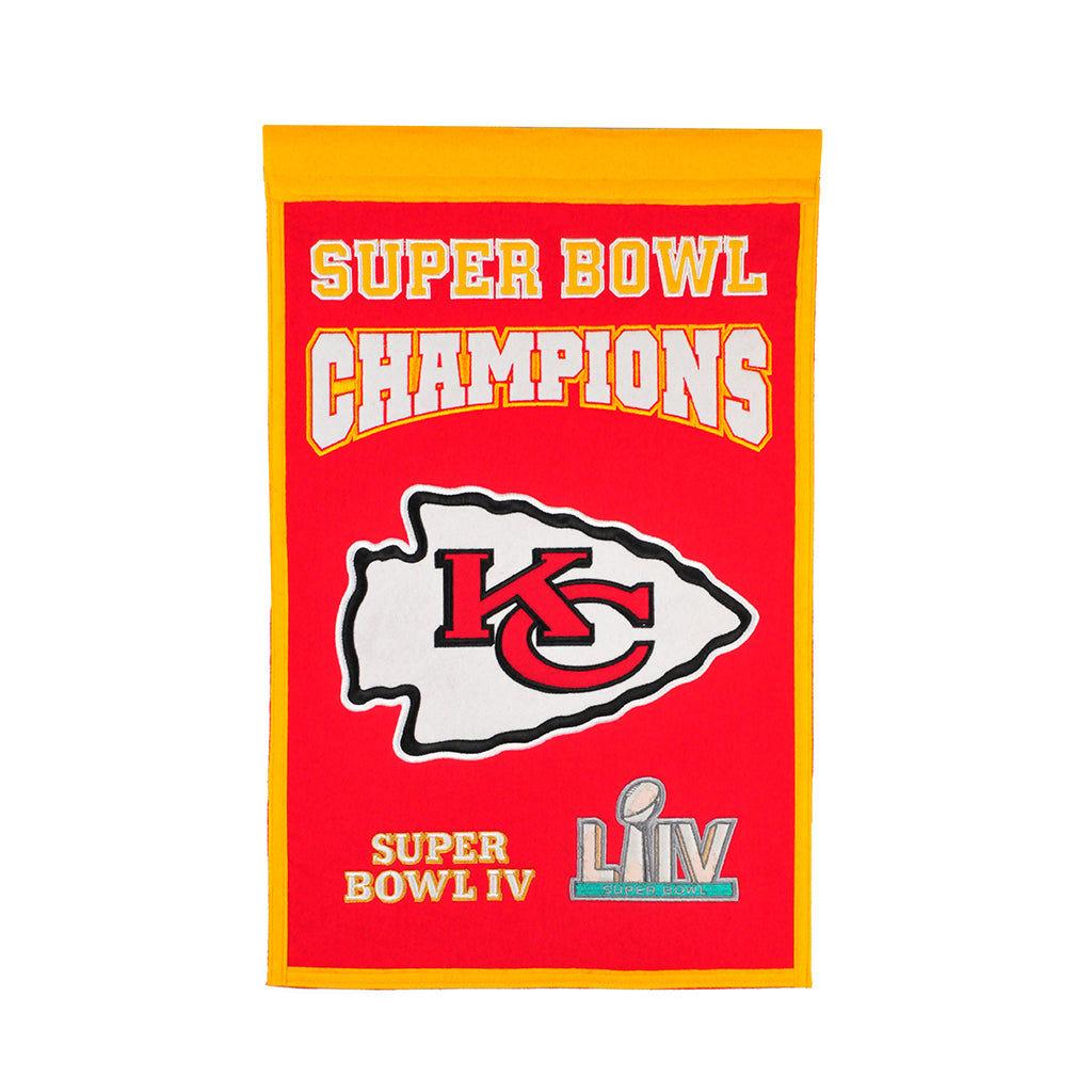 Kansas City Chiefs Super Bowl Champs Banner - Latitude Sports Marketing