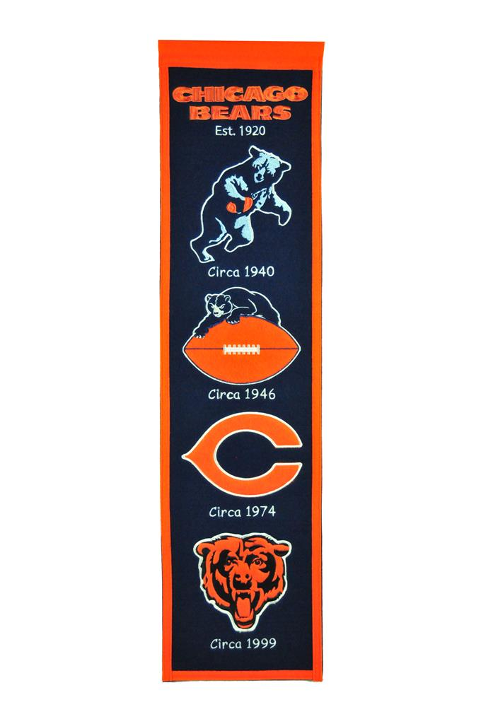 Chicago Bears Heritage Banner - Latitude Sports Marketing