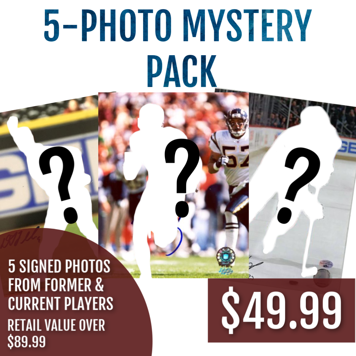 5-Photo Mystery Package - Latitude Sports Marketing
