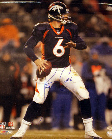 Jay Cutler Signed 8x10 (Blue Jersey) - Latitude Sports Marketing