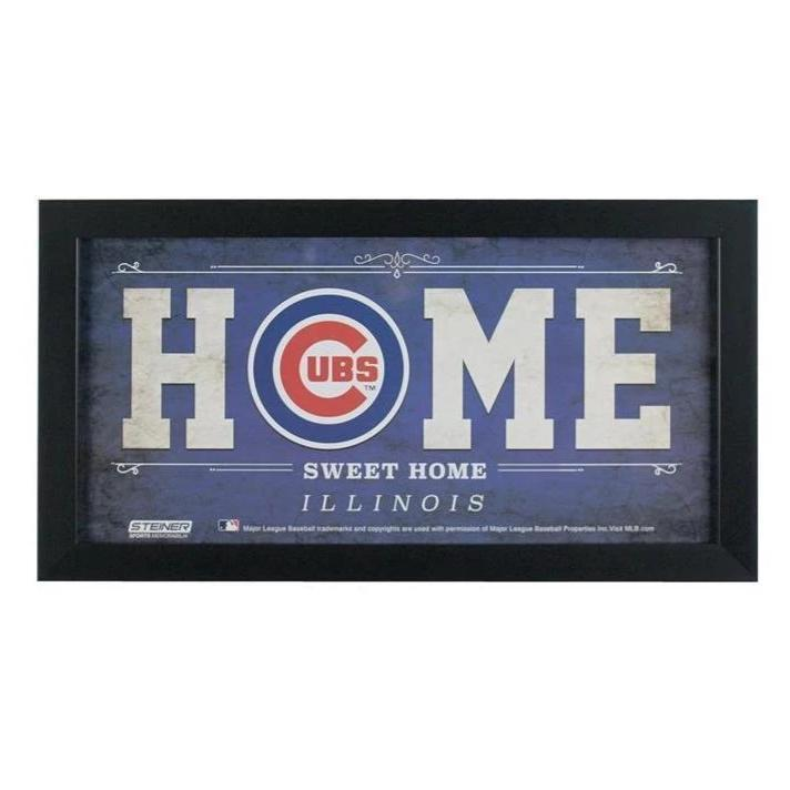 Chicago Cubs 10 x 20 in. Home Sweet Home Sign - Latitude Sports Marketing