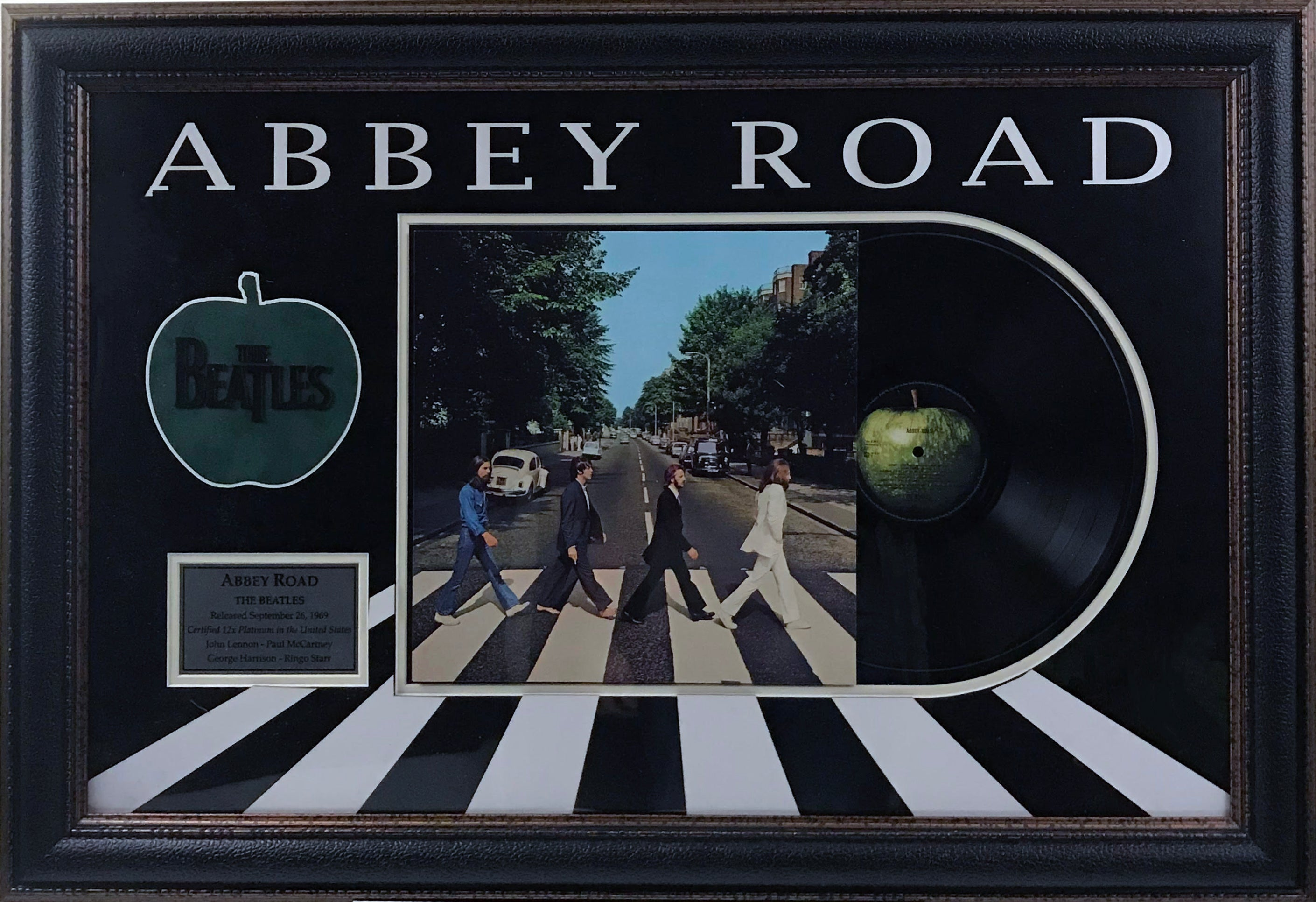 Beatles Abbey Road Framed Album Collage - Latitude Sports Marketing
