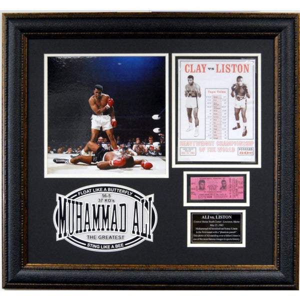 Muhammad Ali Framed Collage vs. Sonny Liston