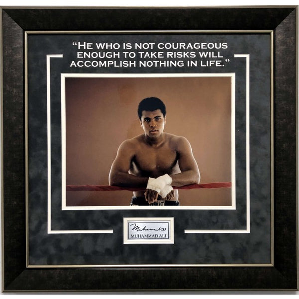 Muhammad Ali Framed 11x14 Photo with Quote and Laser Signature