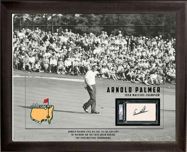 Arnold Palmer Autographed Piece with Photo Deluxe Frame LSM JSA COA