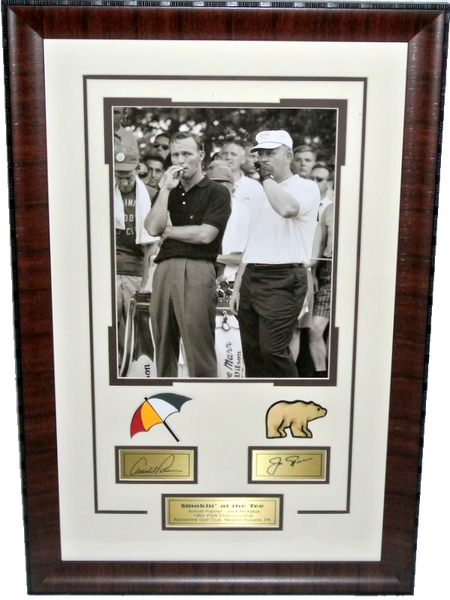 Arnold Palmer and Jack Nicklaus 11x14 Photo with Laser Signatures - Latitude Sports Marketing