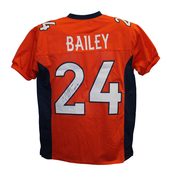 Champ Bailey signed Orange Broncos Jersey w/ HOF inscription - Latitude Sports Marketing