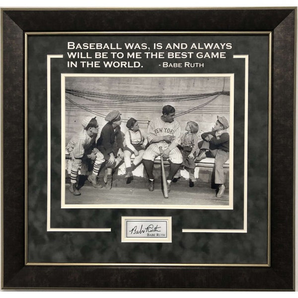 Babe Ruth Framed 11x14 Photo with Quote and Laser Signature - Latitude Sports Marketing