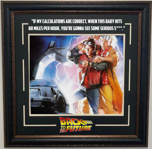 Back to The Future Framed Photo with Quote