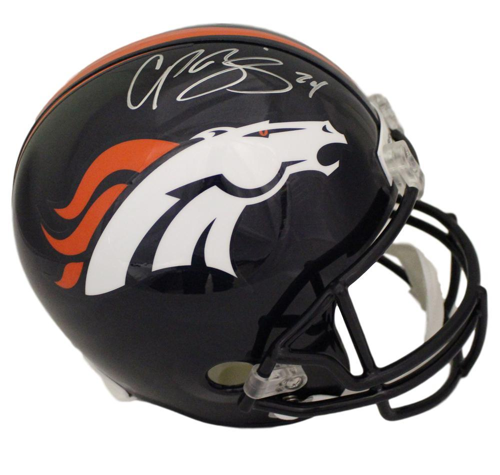 Champ Bailey Signed Denver Broncos Replica Helmet