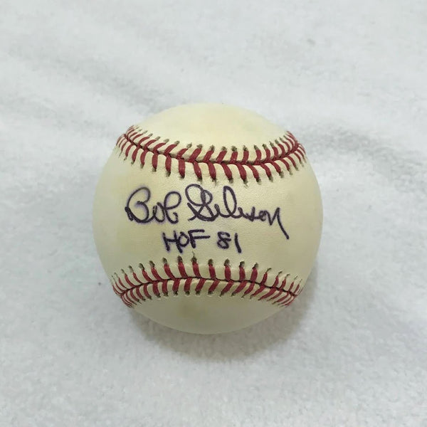 Bob Gibson Autographed Baseball w/ HOF 81 Inscription JSA COA